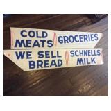 Aluminum Handpainted  sideboard cover signs