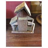 Barnwood bird feeder 13x15x6
