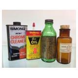 Medical bottle, gun Oiler, chrome cleaner