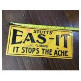 Stutts EAS-it tin sign