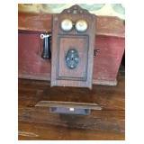 Oak wall telephone with generator