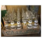 Complete set of Choc-ola bottles and crate