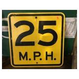 18x18 speed limit sign