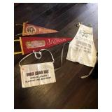 Pennants and carpenter aprons
