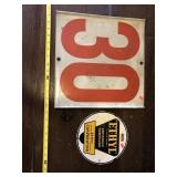 2 double sided Metal signs