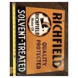 Richfield Oil sign 12x16