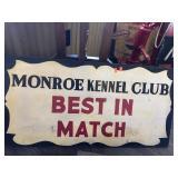 Monroe Kennel Club signs