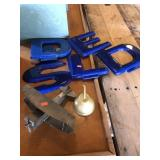 Plastic letters, Lincoln Electric plane and oil