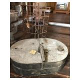 Rusty cage light and Galvanized/Copper heater