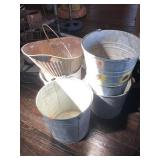 Buckets and coal bucket