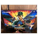 Bally Special Force Pinball Back Glass