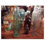Soda bottles, glasses, jars, assortment Pepsi,