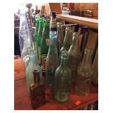 Bottle assortment, soda, beer, medicine