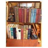 Book assortment and bookends
