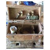 Transit wood case, plumb, miscellaneous
