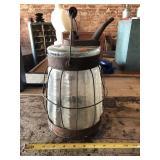 Kerosene jar with metal frame