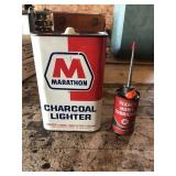 Marathon Charcoal Lighter and Texaco Lubricant
