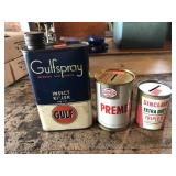 Gulfspray Insect killer, Sohio  and Sinclair oil