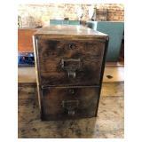 8x15x12 wood card file box