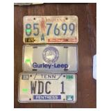3 license plates