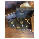 Brunswick panatroph record player and records