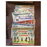 13 license plates