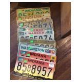 9 license plates