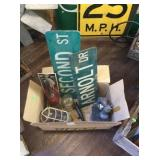 Street signs , microscope , and misc.