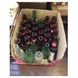 Glass bottle assortment mostly Budweiser