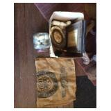 Burlap flour sack and misc. decor