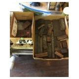 Assorted rubber stamps