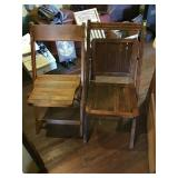 Two Wood Folding chairs