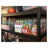 Soda Bottles and carriers , 7up, RC, Fanta, coke,