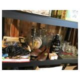 Collectibles, glassware, paper cutter, jugs,