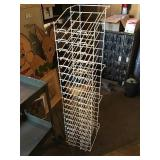 Wire literature rack 53in tall
