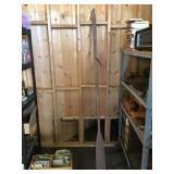 Wood oar 84in