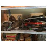 Assorted Tools And Contents Of Shelf