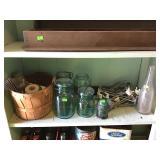 Ball Mason Jars Peg Board Hangers And Misc.