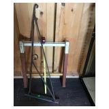 Flange Sign Iron Bracket  & Wooden Ladder Section