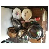 Assorted Pots, Pans & Dishes