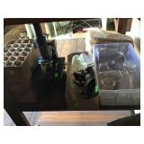 Assorted Test Tubes Beakers And Microscopes