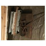 Fence Stretcher Metal Cart And Fold Up Saw Horses