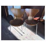 Fritzhansen Danish Mcm Chairs, Some Veneer Loss
