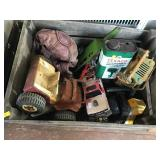 Vintage Toys, Crate, Texaco Outboard Oil Can