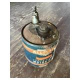 Allstate Motor Oil Can 5 Gallon, W/ Paint And Dent