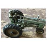Cast Aluminum John Deere Tractor W/man