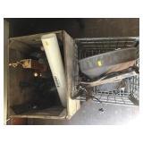 Repurposed Strainer Lamp, Dean Milk Metal Crate,