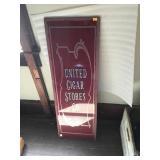 United Cigar Store Glass Panel 12x36