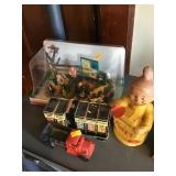 Vintage Toy Assortment, Dopey Bank Plastic