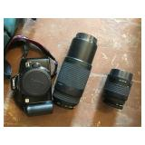 Canon Eos Rebel Camera And 35-80mm, 75-300 Lenses